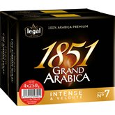 Legal Café moulu Legal Grand Arabica 1851 - 4x250g