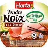 Herta jambon Tendre Noix Herta A la broche ss antibio x4 120g