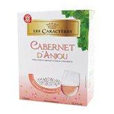 Cabernet d'Anjou Vin rosé Les Caractères Cabernet d'Anjou AOC - 24v. 3L