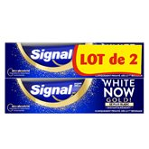 Signal Dentifrice Blancheur Signal White Now Gold - 2x75ml