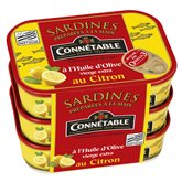 Connetable Sardine au citron Connetable Citron huile olive - 3x135g