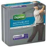 Depend Culotte homme Active-Fit Depend Taille 40-46 (S / M) - x9
